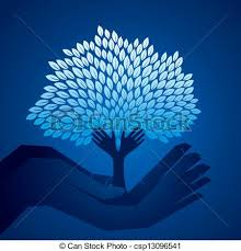 eps vector of blue tree in stock vector csp13096541 search