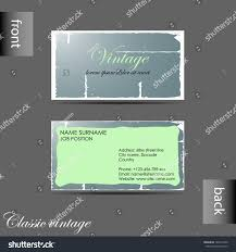 Business Cards Front And Back Vector Oldstyle Retro Vintage Business Card Stock Vector 183214760