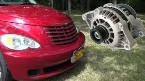 pt cruiser alternator replacement complicated as usual youtube