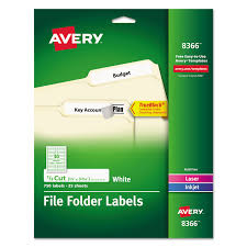 permanent file folder labels by avery ave8366 ontimesupplies com