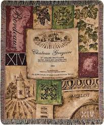 themed throws world wine vineyard themed tapestry throw blanket 50 x60