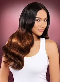 filipina artist with copper brown hair color hair color for filipino including skin tone with expert tips