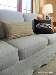 custom made sofa slipcovers linen sofa slipcover makeover the slipcover maker