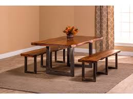 natural wood dining room table hillsdale furniture dining room emerson 3 piece rectangle dining
