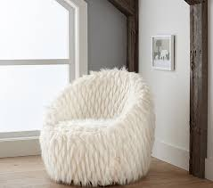 Pottery Barn Critter Chair Faux Fur Lounge Chair Pottery Barn Kids