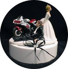 motorcycle wedding cake topper motorcycle wedding cake topper w yamaha for sale groom top