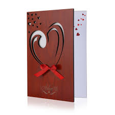 bestomz real wood greeting card handmade cards