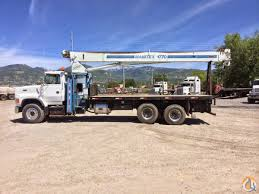 manitex 1770 boom truck with ford l9000 carrier crane for in salt