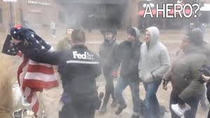 Is There A Law Against Burning The American Flag Fedex Delivery Driver Spots American Flags Set On Fire By