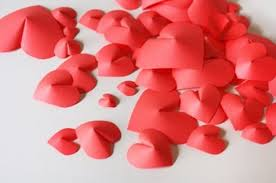 valentines day decor diy 3d wall paper hearts for s day decor shelterness