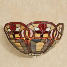 Stained Glass Wall Sconce Roses Stained Glass Led Wall Sconce