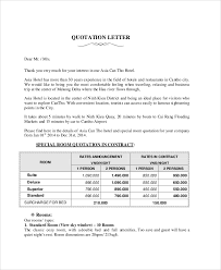 sample quotation doc quotation example