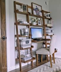 leaning wall ladder desk