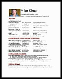 Audition Resume Template 16 Free Sample Choreographer Resumes Walkers Choreography