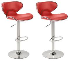 furniture red bar stools design with white ceramic floor and
