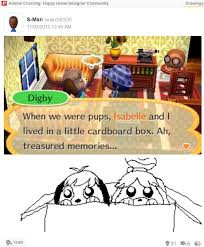 Animal Crossing Meme - isabelle and digby s backstory animal crossing know your meme