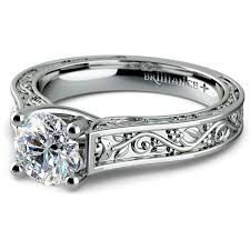 engagement rings antique antique solitaire engagement ring in white gold