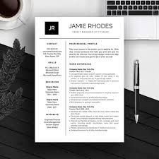 Free Unique Resume Templates Word Creative Resume Template Word Modern Resume By Typematters On Etsy