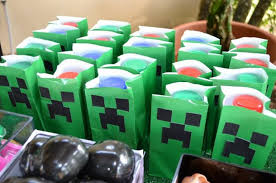 minecraft birthday party minecraft birthday party goodie bags home party theme ideas