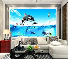 painting wall murals alternatux com 3d room wallpaper custom photo mural deep sea fish aquarium dolphin picture decor painting wall for