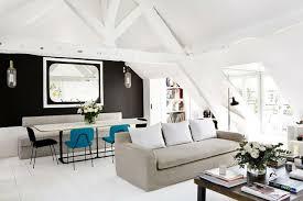 wohnzimmer mit dachschr ge wohnung einrichten wohnideen für zimmer mit dachschräge