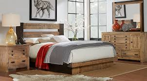 asher driftwood 5 pc queen bedroom queen bedroom sets light wood