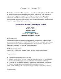 Painter Resume Template Sample Resume Construction Worker Haadyaooverbayresort Com