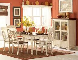 ohana white rectangular extendable dining room set from