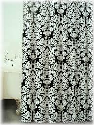 Black And White Damask Curtain Black White Damask Fabric Bathroom Bath Shower Curtain Ri4nd060