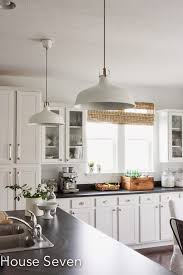 Industrial Kitchen Pendant Lights Eclectic Home Tour House Seven Pendant Lighting Industrial