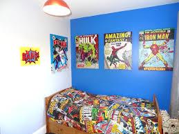 decoration marvel kids bedroom extraordinary super hero wall