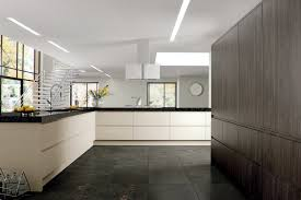 contemporary german style gloss kitchen painted in grey and white