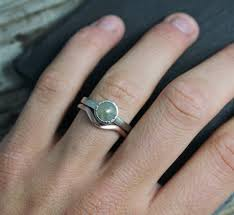 gray ring in 14k gold engagement