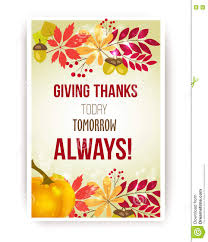 Thanksgiving Leaf Template Vector Quote Giving Thanks Today Tomorrow Always Happy