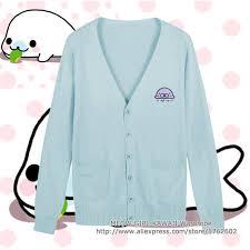 Seragam Sekolah Lengan Panjang kecil yang lucu segel putih bordir jepang jk seragam sekolah sweater
