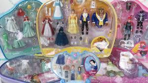 7 polly pocket disney princess fashion sets cinderella ariel