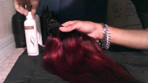 influance hair dye influance hair color redwine on weave pt 2 youtube