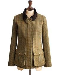 joules womens semi fitted tweed field coat green mr toad tweed