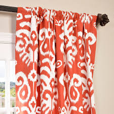 buy sri lanka rust printed cotton twill curtain