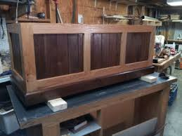 Woodworking Forum by Oak And Walnut Cedar Chest Woodworking Talk Woodworkers Forum