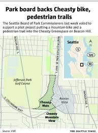 Seattle Bike Trail Map by Park Board Backs South Seattle Mountain Bike Trail The Seattle Times