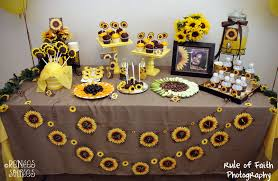 Sunflower Decorations Real Party Sunflowers U0026 Burlap Renee U0027s Soirees