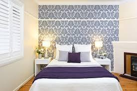 purple feature wallpaper bedroom memsaheb net