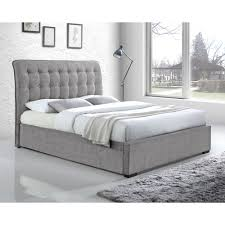 grey king bed frame