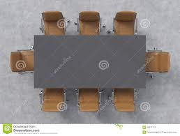 Conference Room Chairs Leather Top View Of A Conference Room A Dark Grey Rectangular Table And