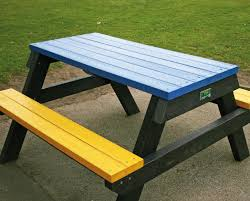 recycled plastic picnic tables for children