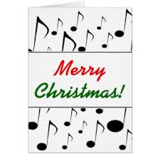 musical notes christmas greeting cards zazzle