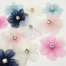 ribbon flowers rhinestone craft ribbons ebay