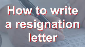 how to write a resignation letter youtube