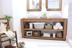 Bathroom Vanities That Look Like Furniture Diy Wood Vanity In The Master Bathroom